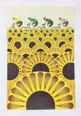 click here to view larger image of Les Tournesols (hand painted canvases)