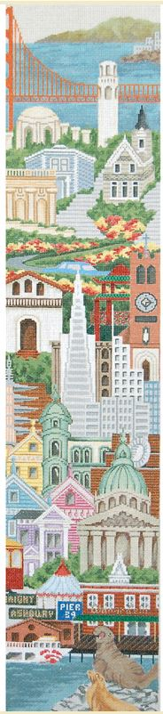 click here to view larger image of Bell Pull - San Francisco (hand painted canvases)
