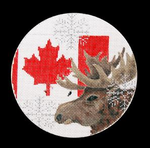 click here to view larger image of Canada Ornament (hand painted canvases)