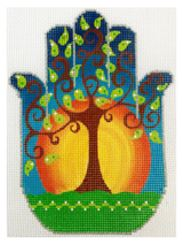 click here to view larger image of Tree of Life Hamsa (hand painted canvases)