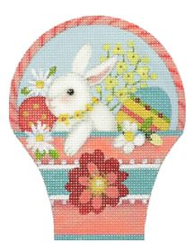 click here to view larger image of Bunny Basket (hand painted canvases)
