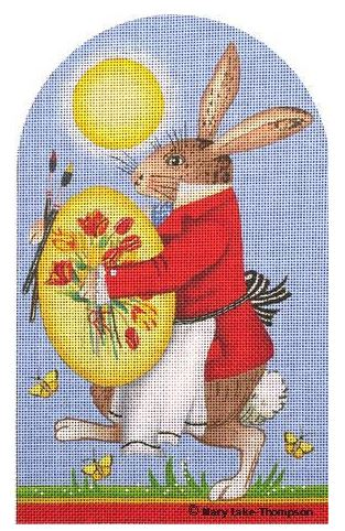 click here to view larger image of Easter Bunny (hand painted canvases)