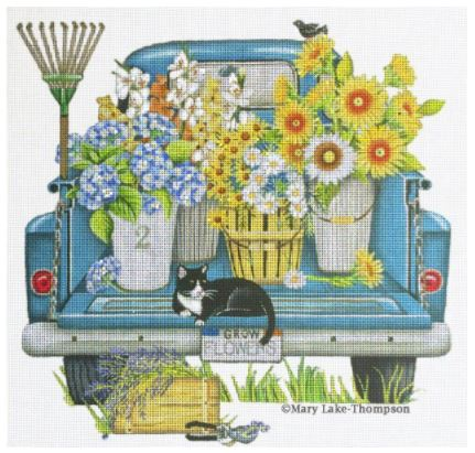 click here to view larger image of Garden Truck (hand painted canvases)