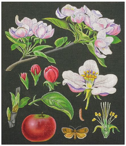 click here to view larger image of Apple Blossoms (hand painted canvases)