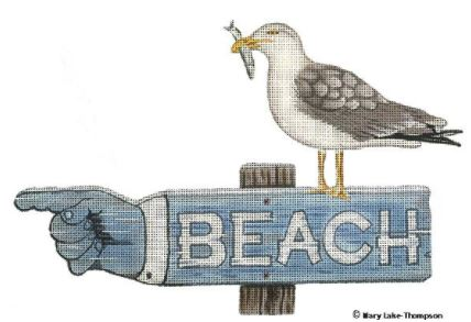 click here to view larger image of BEACH Sign (hand painted canvases)