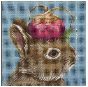 click here to view larger image of Beet Bunny (hand painted canvases)