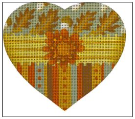 click here to view larger image of Acorns Heart (hand painted canvases)