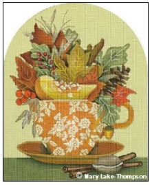 click here to view larger image of Autumn Cup (hand painted canvases)