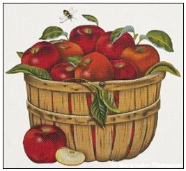 click here to view larger image of Apple Basket (hand painted canvases)