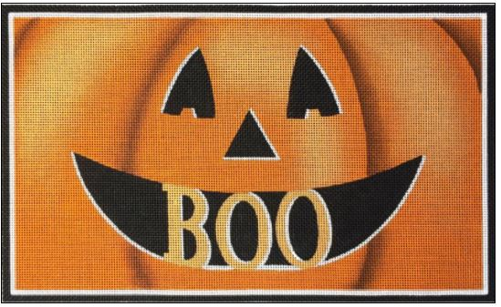 click here to view larger image of Boo Pumpkin (hand painted canvases)