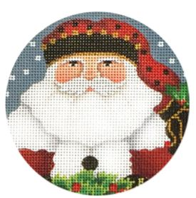click here to view larger image of Acorn Santa Ornament (hand painted canvases)