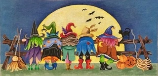 click here to view larger image of Witches At The Fence (hand painted canvases)
