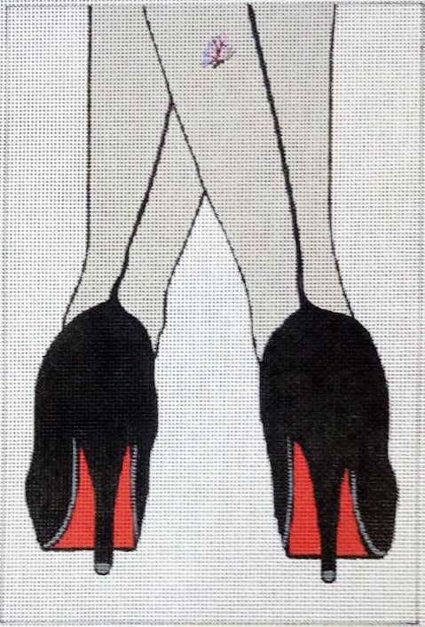click here to view larger image of Seams and Heels (hand painted canvases)