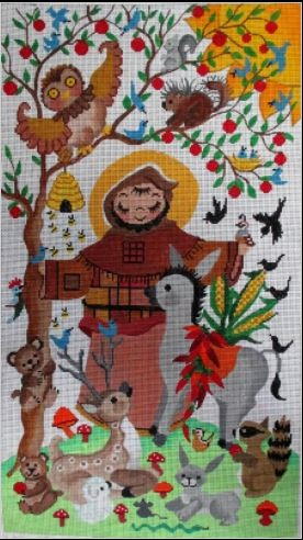 click here to view larger image of St Francis (hand painted canvases)
