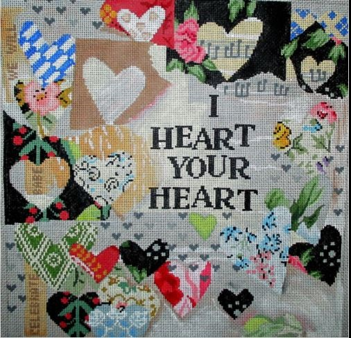 click here to view larger image of I Heart Your Heart (hand painted canvases)