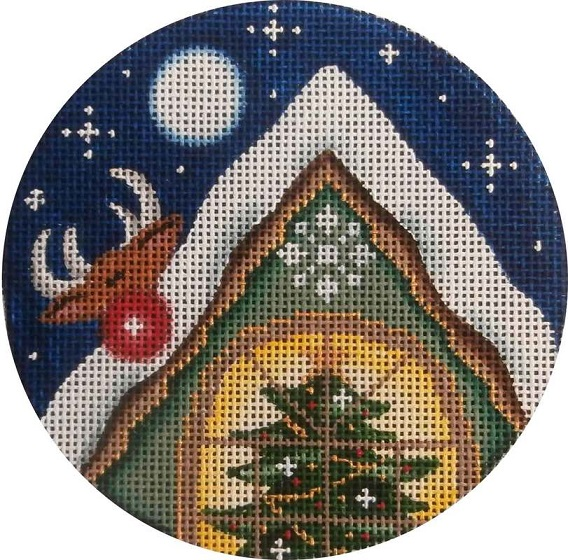 click here to view larger image of Rudolph Ornament (hand painted canvases)