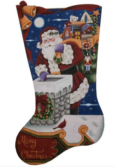 click here to view larger image of Christmas Night Stocking - 18 mesh (None Selected)