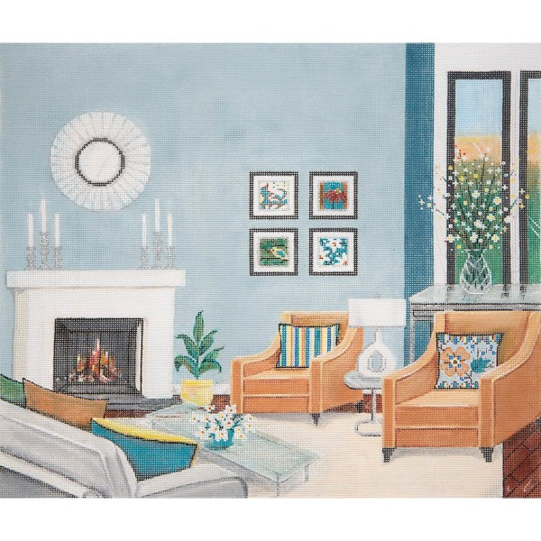 click here to view larger image of Cathys Wedgewood and Grey Living Room (None Selected)