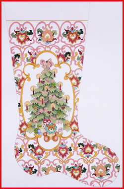 click here to view larger image of Decorated Tree With Gold Cartouche Stocking (None Selected)